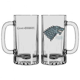 SD Toys Pivní sklenice Game of Thrones - Stark 400ml